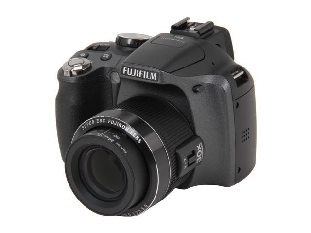 FUJIFILM SL300 Black 14.0 MP 30X Optical Zoom Wide Angle Digital Camera