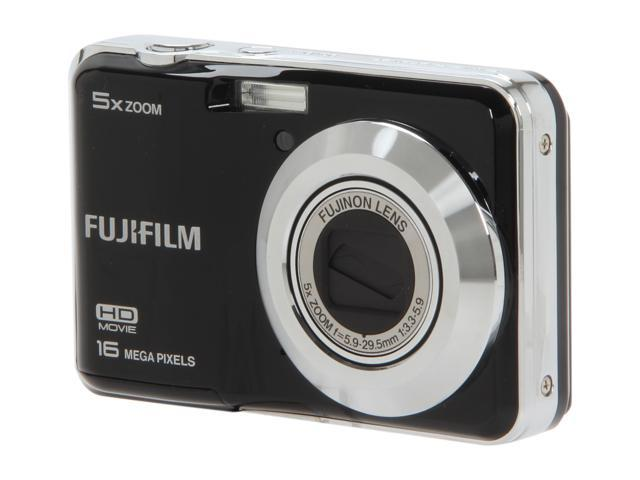 FUJIFILM FinePix AX550 Black 16.0 MP 5X Optical Zoom Digital Camera