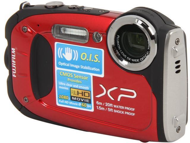 "FUJIFILM FinePix XP60 16318681 Red 16.4 MP 2.7"" 230K Digital Camera"