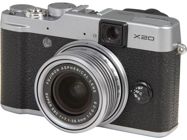 FUJIFILM X20 Silver 4X Optical Zoom 28mm Wide Angle Digital Camera HDTV Output
