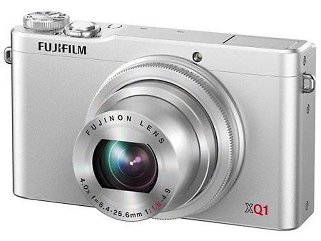 FUJIFILM XQ1 Silver 12 MP 4X Optical Zoom 25mm Wide Angle Digital Camera HDTV Output