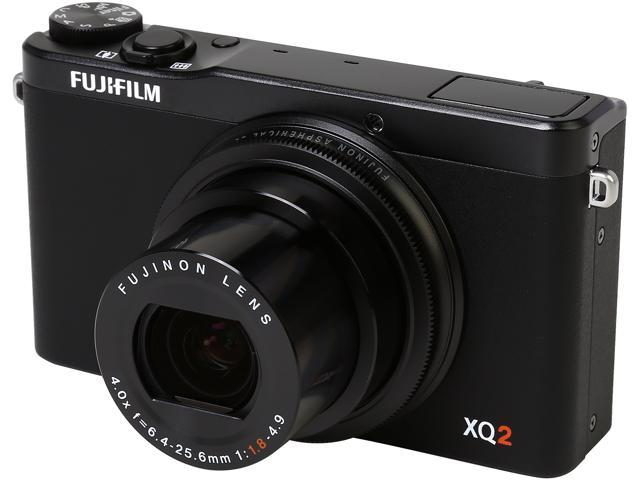 FUJIFILM XQ2 Black 12.0 MP 4X Optical Zoom 25mm Wide Angle Digital Camera HDTV Output