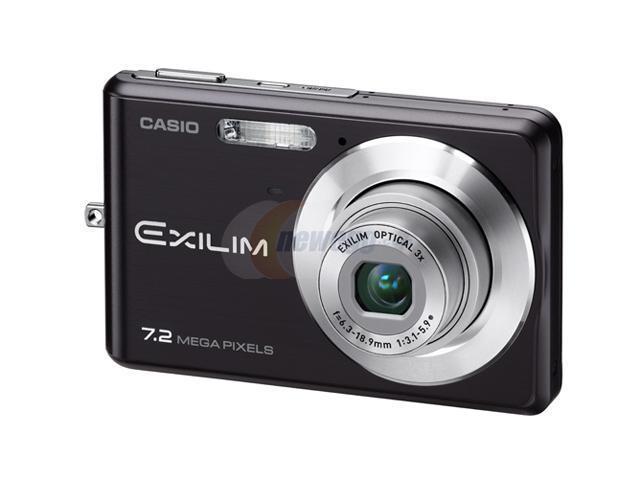 CASIO EX-Z77BK Black 7.2 MP 3X Optical Zoom Digital Camera