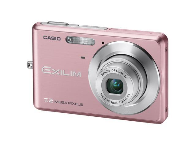 CASIO EX-Z77 Pink 7.2 MP 3X Optical Zoom Digital Camera