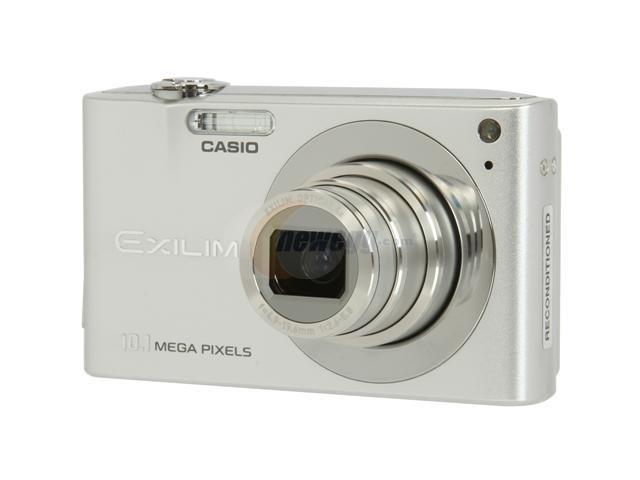 CASIO Exilim EX-Z100 Silver 10.1 MP 4X Optical Zoom 28mm Wide Angle Digital Camera