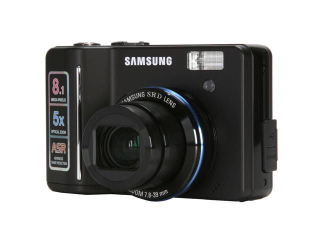 SAMSUNG S850 Black 8.1 MP 5X Optical Zoom Digital Camera