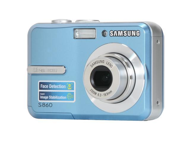 SAMSUNG S860 Blue 8.1 MP 3X Optical Zoom Digital Camera