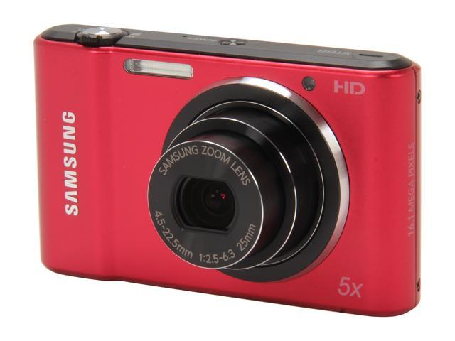 SAMSUNG ST66 Red 16.1 MP 25mm Wide Angle Digital Camera