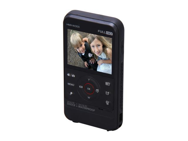 "SAMSUNG HMX-W300 Black 2.3"" 230K LCD Full HD Pocket Camcorder"