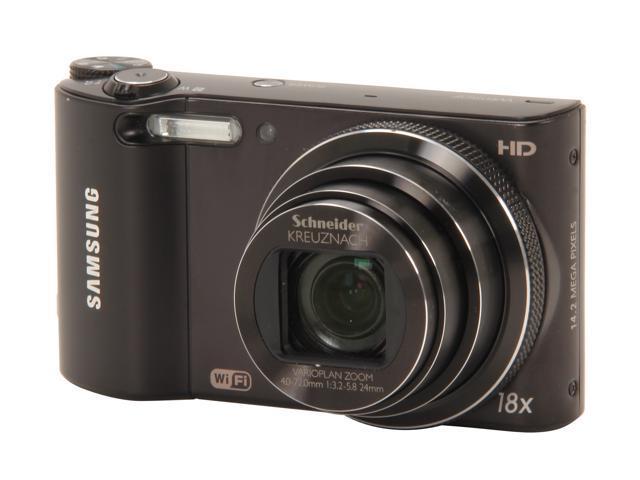 SAMSUNG WB150F Black 14.2 MP 18X Optical Zoom 24mm Wide Angle SMART Camera