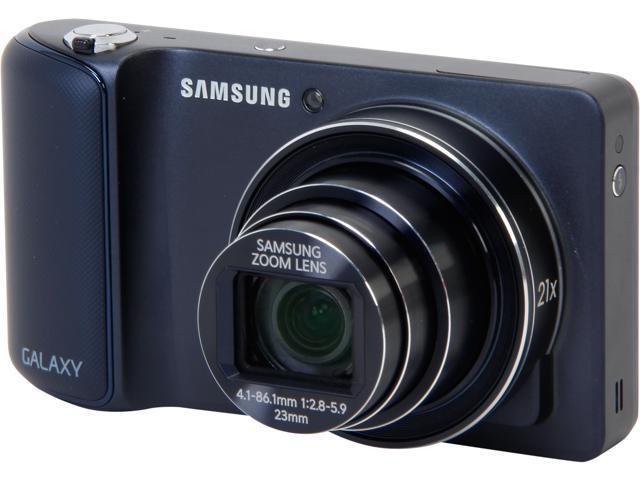 SAMSUNG GC110 Black 16.3 MP 21X Optical Zoom 23mm Wide Angle Galaxy Camera Wi-Fi HDTV Output