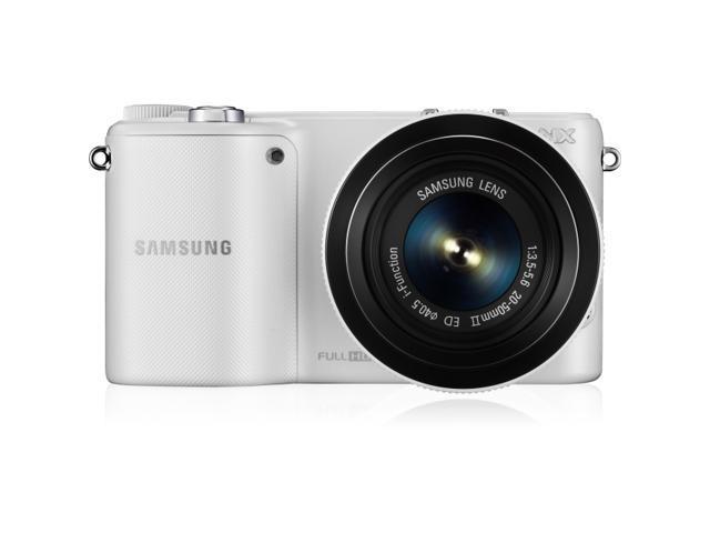 Samsung NX2000 20.3 Megapixel Mirrorless Camera (Body with Lens Kit) - 20 mm - 50 mm (Lens 1), 50 mm - 200 mm (Lens 2) - White