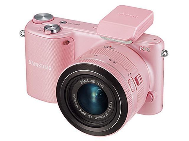 Samsung NX2000 20.3 Megapixel Mirrorless Camera (Body with Lens Kit) - 20 mm - 50 mm - Pink