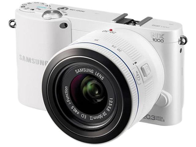 SAMSUNG NX1000 EV-NX1000BFWCA White 20.3MP 3.0