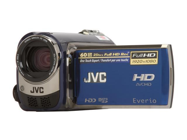 JVC Everio GZ-HD300 Sapphire Blue Full HD Flash Memory Camcorder