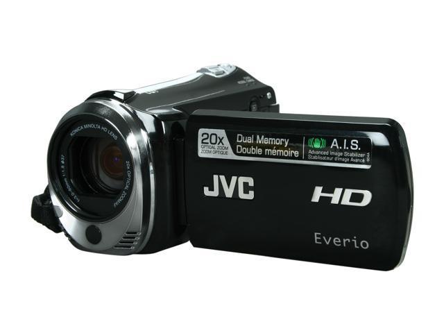 JVC Everio GZ-HM340 Black CMOS 20X Optical Zoom 16GB Dual Full HD Memory Camcorder