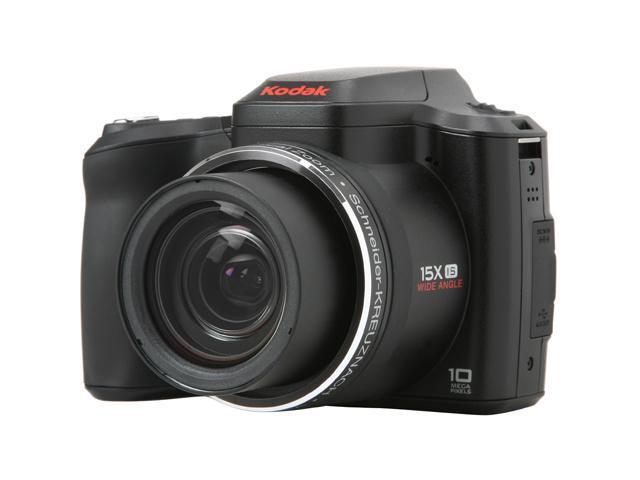 Kodak EasyShare Z1015 IS Black 10 MP 15X Optical Zoom 28mm Wide Angle Digital Camera