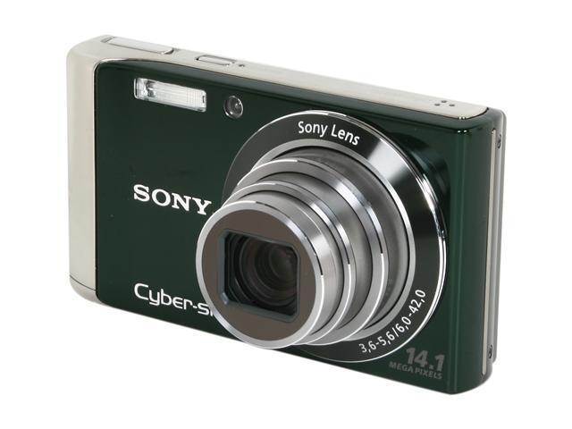 SONY Cyber-shot DSC-W370 Green 14.1 MP 7X Optical Zoom Digital Camera