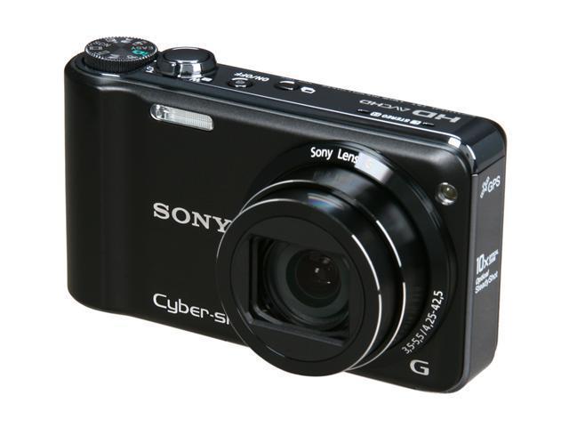 SONY Cyber-shot DSC-HX5V Black 10.2 MP 10X Optical Zoom 25mm Wide Angle Digital Camera