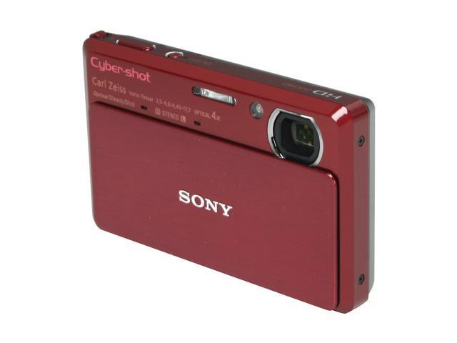 SONY Cyber-shot DSC-TX7 Red 10.2 MP 4X Optical Zoom 25mm Wide Angle Digital Camera