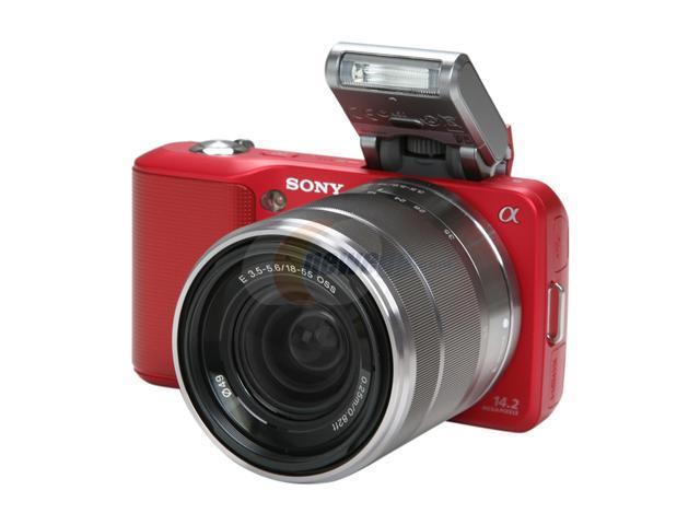 SONY NEX3K/R Red Approx. 14.2 MP Digital SLR Camera