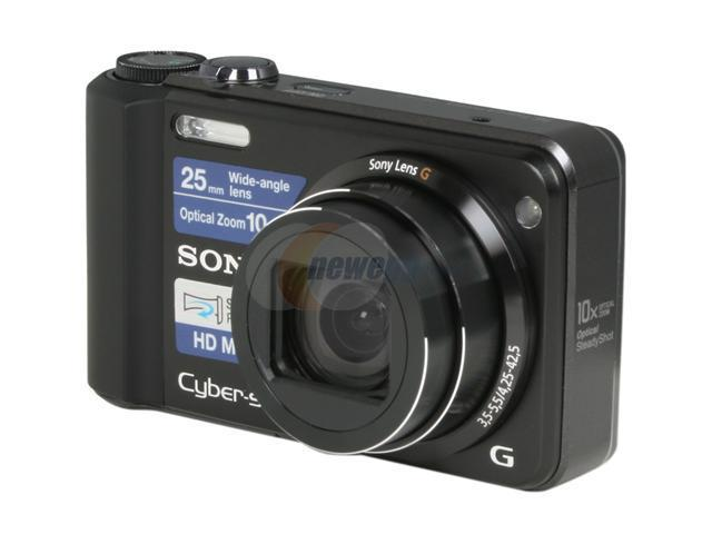 SONY DSCH70 Black 16.1 MP 10X Optical Zoom 25mm Wide Angle Digital Camera