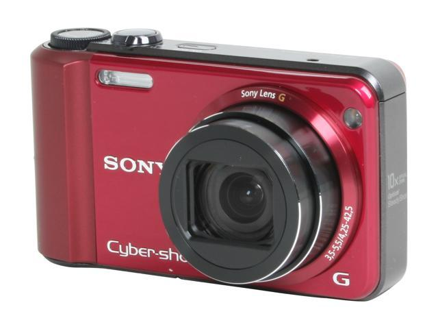 SONY DSCH70 Red 16.1 MP 25mm Wide Angle Digital Camera