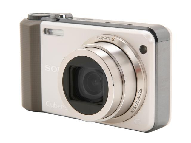 SONY DSCHX7V/W White 16.2 MP 10X Optical Zoom 25mm Wide Angle Digital Camera