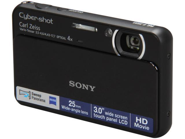 SONY DSCT110/B Black 16.1 MP 25mm Wide Angle Digital Camera