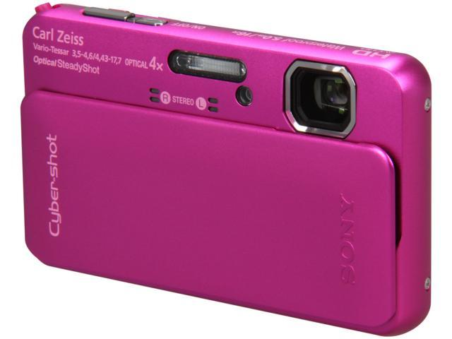 SONY DSCTX10/P Pink 16.2 MP 4X Optical Zoom Waterproof Shockproof 25mm Wide Angle Digital Camera