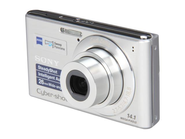 SONY DSCW530/SC Silver 14.1 MP 4X Optical Zoom 26mm Wide Angle Digital Camera