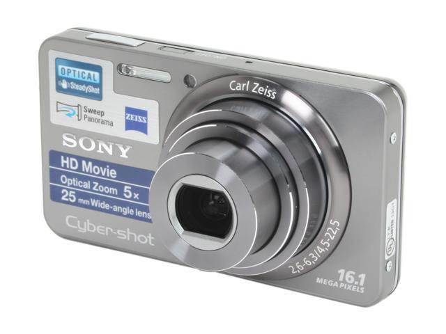 SONY Cyber-shot DSC-W570 Silver 16.1 MP 25mm Wide Angle Digital Camera