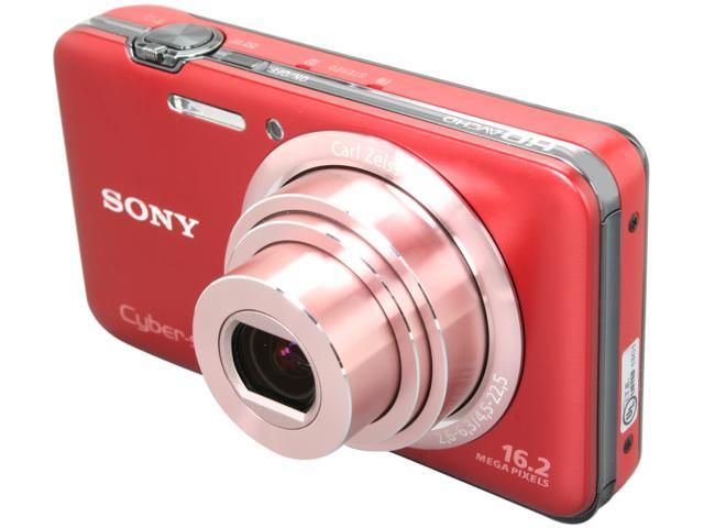 SONY DSCWX9/R Red 16.2 MP 5X Optical Zoom 25mm Wide Angle Digital Camera