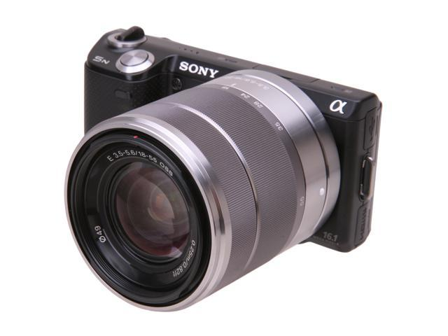 Sony Alpha NEX-5NK/B Black 16.1MP Compact Interchangeable Touchscreen Camera with 18-55mm Lens