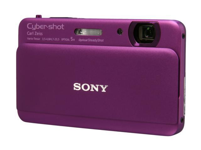 SONY Cyber-shot DSC-TX55/V Violet 16.2 MP 25mm Wide Angle Digital Camera