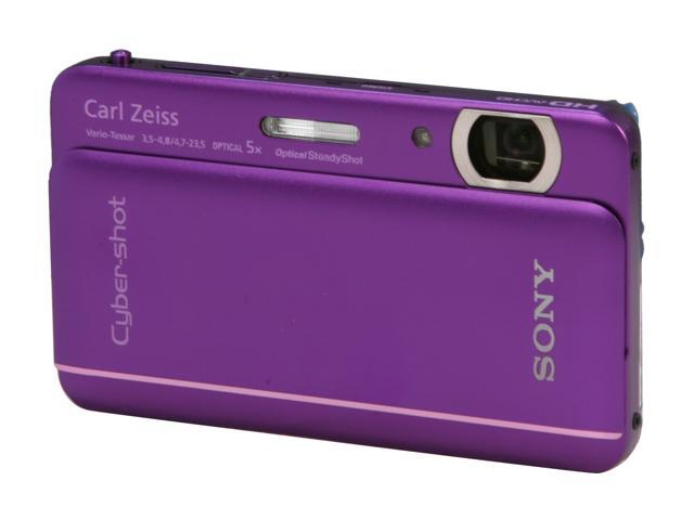 SONY Cyber-shot DSC-TX66/V Violet 18 MP 5X Optical Zoom Digital Camera