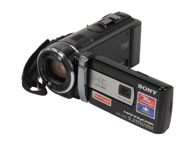 SONY HDR-PJ200/B Black Full HD Camcorder