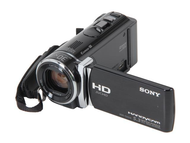 SONY HDR-CX210/B Black Full HD Flash Memory Camcorder