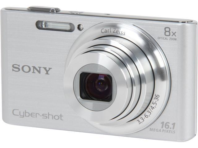 SONY DSCW730 Silver 16.1 MP 8X Optical Zoom Digital Camera