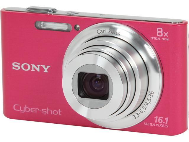 SONY DSCW730/P Pink 16.1 MP 8X Optical Zoom Digital Camera