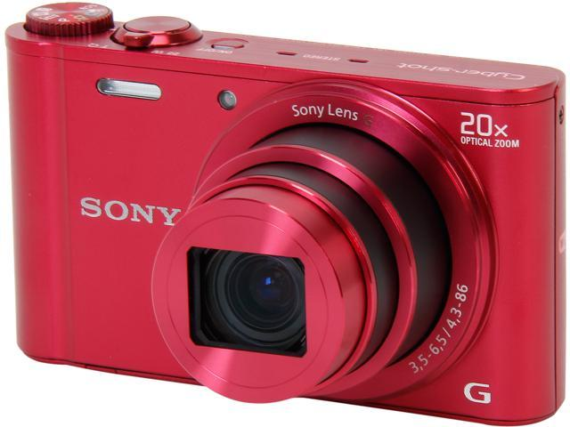 SONY Cyber-shot DSC-WX300/R Red 18.2 MP 20X Optical Zoom Digital Camera HDTV Output