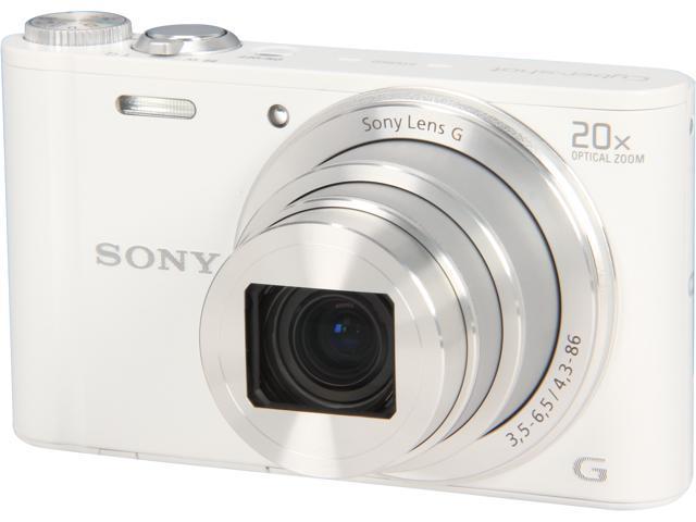 SONY Cyber-shot DSC-WX300/W White 18.2 MP Digital Camera HDTV Output