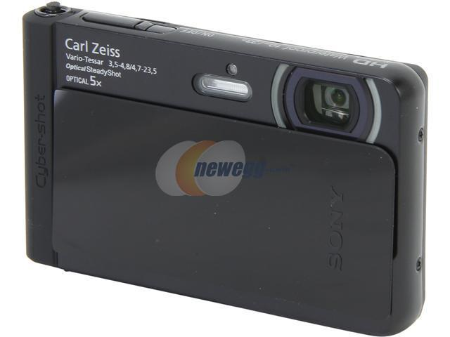 SONY Cyber-shot TX30 Black 18.2MP 5X Optical Zoom Waterproof Shockproof 26mm Wide Angle Digital Camera HDTV Output