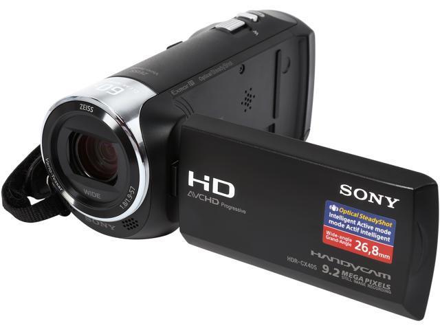 sony camcorder. sony handycam cx405 hdr-cx405/b black 1/5.8\u0027\u0027 back- sony camcorder