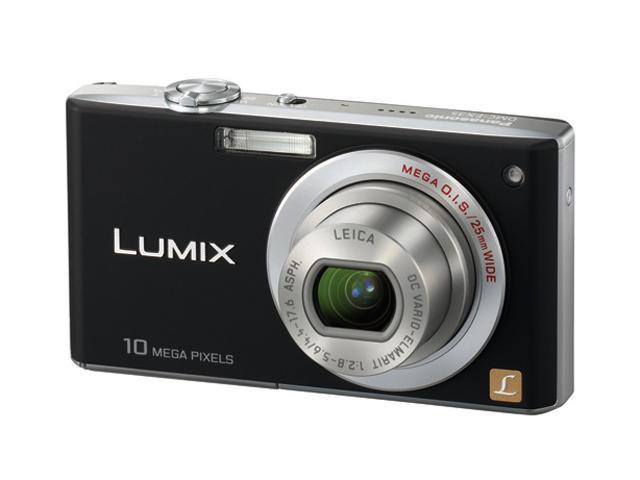 Panasonic Lumix DMC-FX35K Black 10.1 MP 4X Optical Zoom 25mm Wide Angle Digital Camera