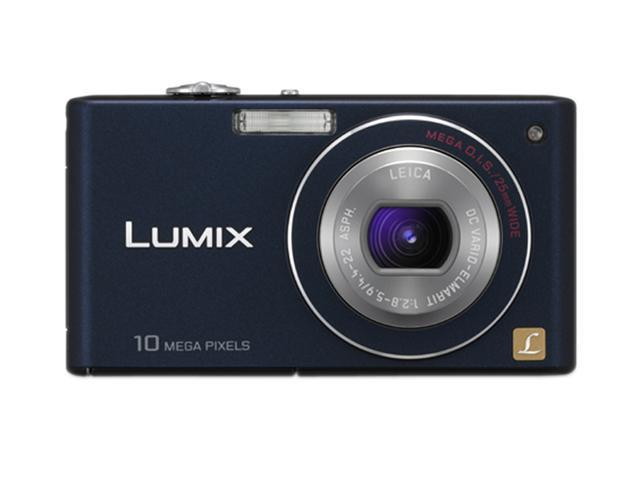 Panasonic DMC-FX37A Blue 10.1 MP 5X Optical Zoom 25mm Wide Angle HD Output Digital Camera