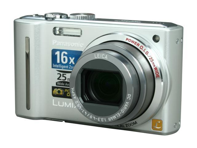 Panasonic DMC-ZS5S Silver 12.1 MP 12X Optical Zoom 25mm Wide Angle Digital Camera