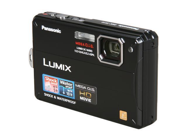 Panasonic DMC-TS10 Black 14.1MP 4X Optical Zoom Waterproof Shockproof Digital Camera