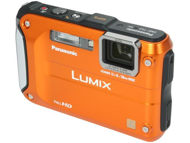 Panasonic DMC-TS3D Orange 12.1 MP 4.6X Optical Zoom Waterproof Shockproof Digital Camera