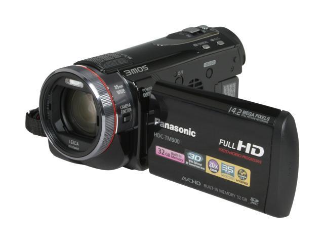 Panasonic HDC-TM900K Black 3CMOS High Definition HDD/Flash Memory Camcorder
